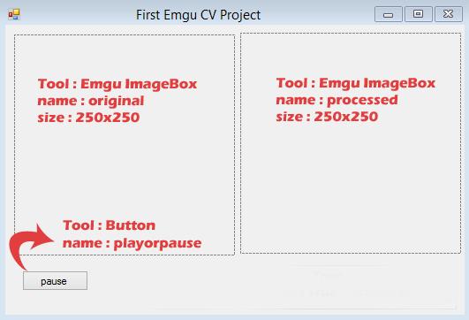 Emgu CV Form Design