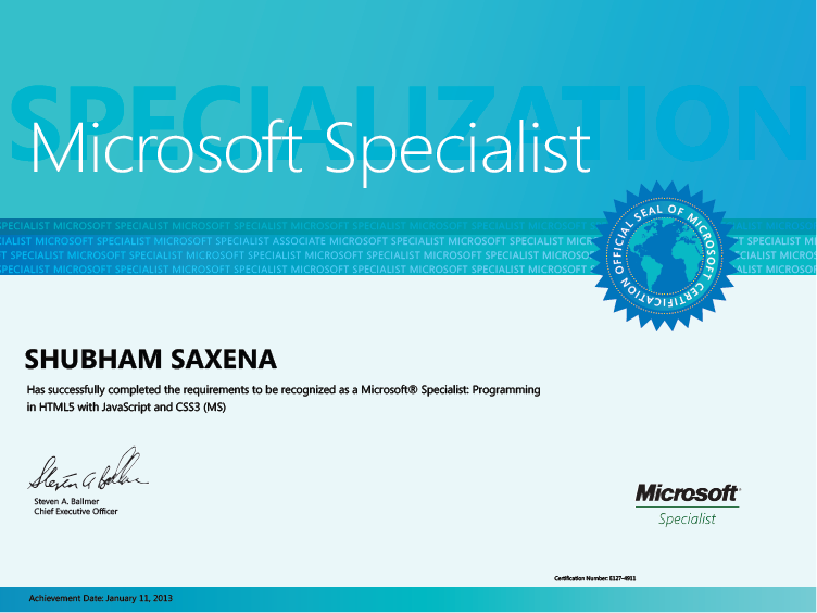 Microsoft Certification Certificates Ukranochi