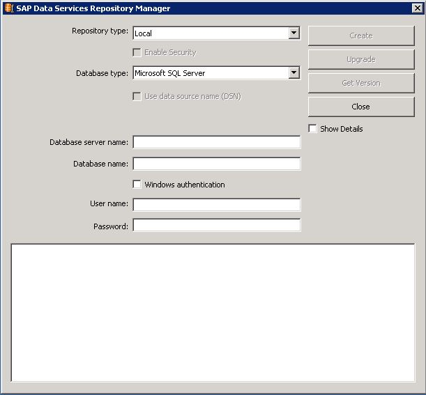 BODS Repository Manager