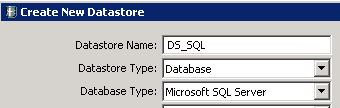 Creating Datastore in BODS Step 2