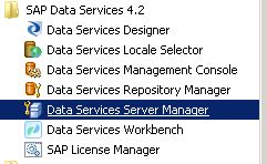 BODS Repository Job Server Configuration 1