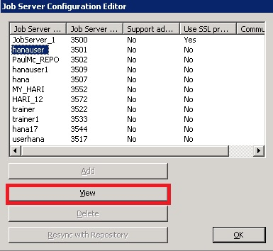 BODS Repository Job Server Configuration 3
