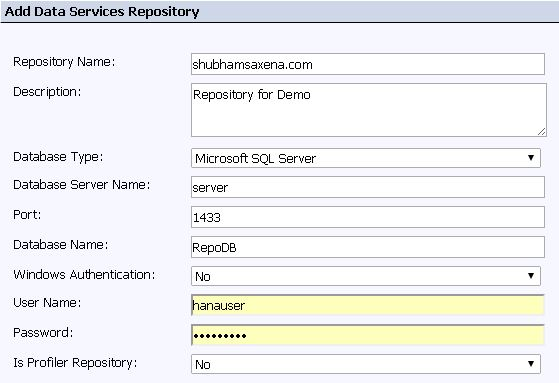 BODS Repository Configuration 3