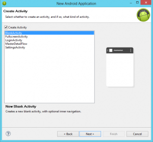 Create Activity Android Application